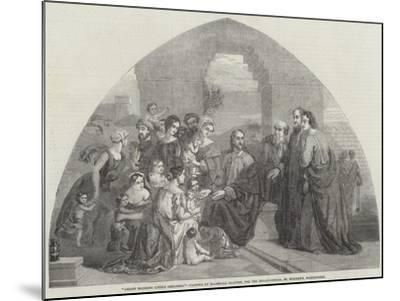 Christ Blessing Little Children-Marshall Claxton-Mounted Giclee Print