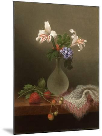 A Vase of Corn Lilies and Heliotrope, 1863-Martin Johnson Heade-Mounted Giclee Print