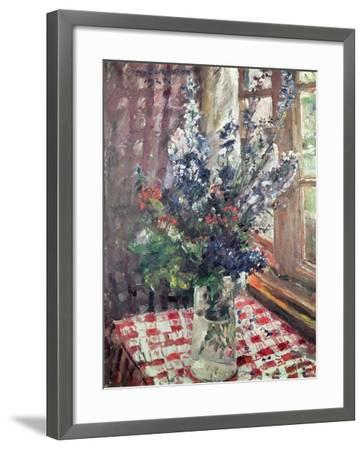 Larkspur, 1924-Lovis Corinth-Framed Giclee Print