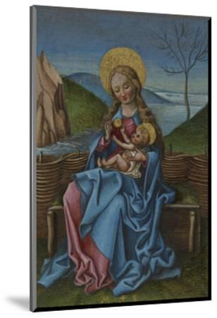 The Virgin and Child on a Grassy Bench-Martin Schongauer-Mounted Giclee Print