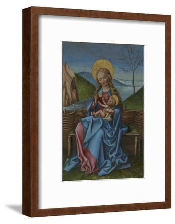 The Virgin and Child on a Grassy Bench-Martin Schongauer-Framed Giclee Print