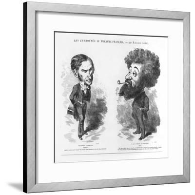 Caricatures of Vernouillet the Intriguing-M. Marcelin-Framed Giclee Print