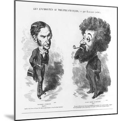 Caricatures of Vernouillet the Intriguing-M. Marcelin-Mounted Giclee Print