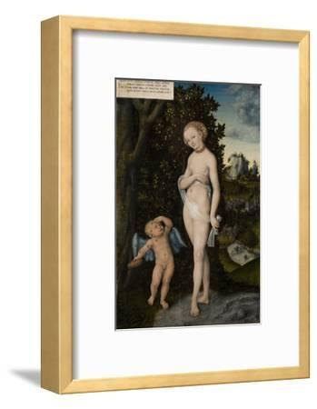 Venus with Cupid Stealing Honey, 1530-Lucas Cranach the Elder-Framed Giclee Print