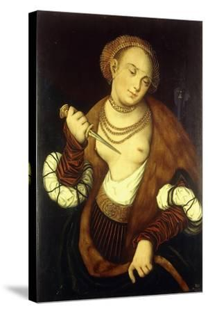 Lucretia, 1548-Lucas Cranach the Elder-Stretched Canvas Print