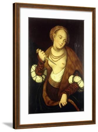Lucretia, 1548-Lucas Cranach the Elder-Framed Giclee Print