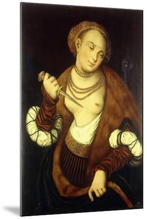 Lucretia, 1548-Lucas Cranach the Elder-Mounted Giclee Print