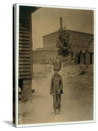 12 Year Old Eddie Norton-Lewis Wickes Hine-Stretched Canvas Print
