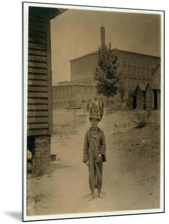 12 Year Old Eddie Norton-Lewis Wickes Hine-Mounted Photographic Print