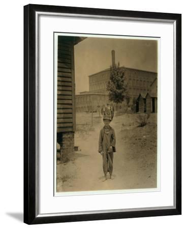 12 Year Old Eddie Norton-Lewis Wickes Hine-Framed Photographic Print