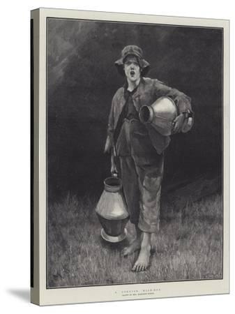 A Cornish Milk-Boy-Marianne Stokes-Stretched Canvas Print