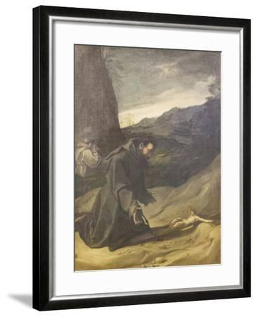 St Francis Adoring the Crucifix, C.1583-84-Lodovico Carracci-Framed Giclee Print