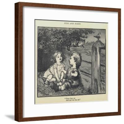 Puss and Robin-Lorens Frolich-Framed Giclee Print
