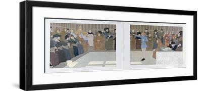 The Trial of Joan of Arc in Rouen Castle in 1431 from 'Jeanne D'Arc', C.1910-Louis Maurice Boutet De Monvel-Framed Giclee Print