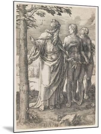 The Story of Adam and Eve: the First Prohibition, 1529-Lucas van Leyden-Mounted Giclee Print