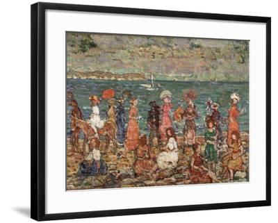 Seashore, C.1913-Maurice Brazil Prendergast-Framed Giclee Print