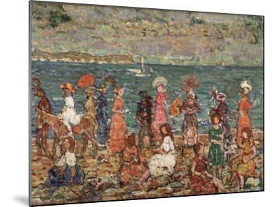 Seashore, C.1913-Maurice Brazil Prendergast-Mounted Giclee Print