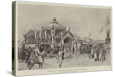 Funeral of the Late Czar, Procession Starting from the Railway Station at Moscow-Melton Prior-Stretched Canvas Print