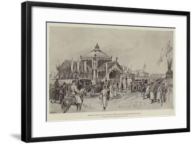 Funeral of the Late Czar, Procession Starting from the Railway Station at Moscow-Melton Prior-Framed Giclee Print