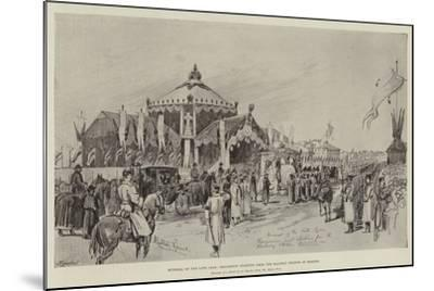 Funeral of the Late Czar, Procession Starting from the Railway Station at Moscow-Melton Prior-Mounted Giclee Print