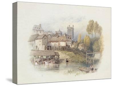 Nantes, France-Myles Birket Foster-Stretched Canvas Print