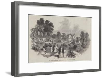 The Harlow Carr Hotel and Sulphureous Alkaline Springs and Baths-Myles Birket Foster-Framed Giclee Print
