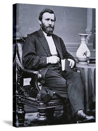 Ulysses Simpson Grant (1822-85)-Mathew Brady-Stretched Canvas Print