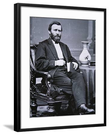 Ulysses Simpson Grant (1822-85)-Mathew Brady-Framed Photographic Print