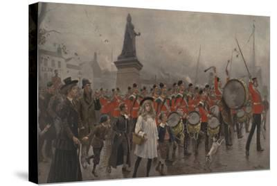 Off to the Front - Yorkshire Regiment, 1899-Maurice Henri Orange-Stretched Canvas Print