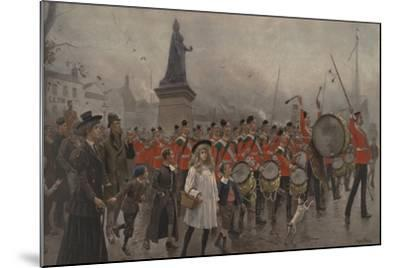 Off to the Front - Yorkshire Regiment, 1899-Maurice Henri Orange-Mounted Giclee Print