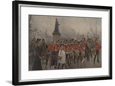 Off to the Front - Yorkshire Regiment, 1899-Maurice Henri Orange-Framed Giclee Print