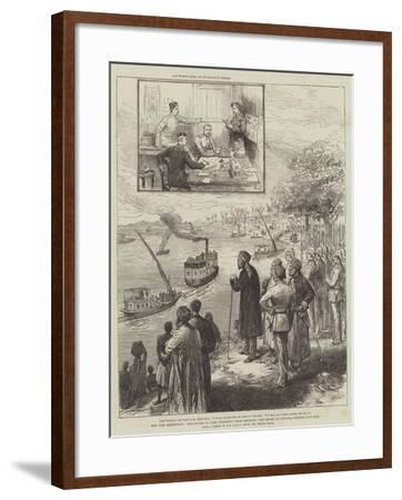 The Nile Expedition, Departure of Lord Wolseley from Ambukol, the Mudir of Dongola Bidding Good-Bye-Melton Prior-Framed Giclee Print