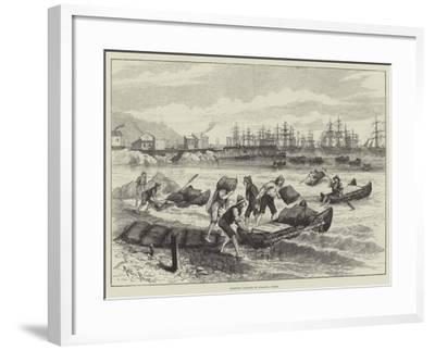 Shipping Nitrate at Pisagua, Chile-Melton Prior-Framed Giclee Print