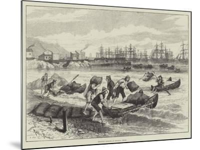 Shipping Nitrate at Pisagua, Chile-Melton Prior-Mounted Giclee Print