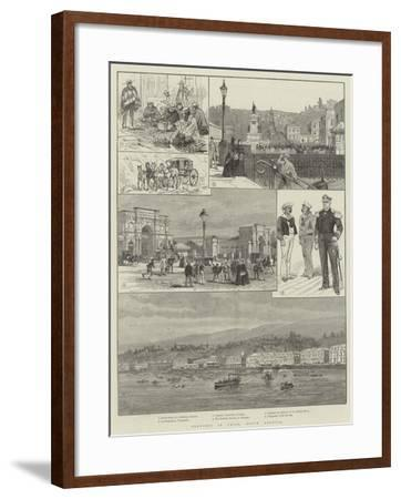 Sketches in Chile, South America-Melton Prior-Framed Giclee Print