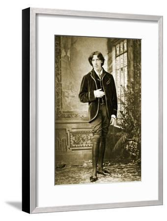 Portrait of Oscar Wilde C. 1882-Napoleon Sarony-Framed Photographic Print