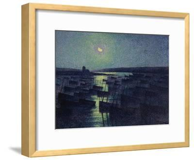 Camaret, Moonlight and Fishing Boats, 1894-Maximilien Luce-Framed Giclee Print