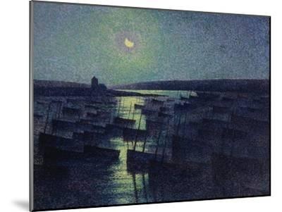 Camaret, Moonlight and Fishing Boats, 1894-Maximilien Luce-Mounted Giclee Print