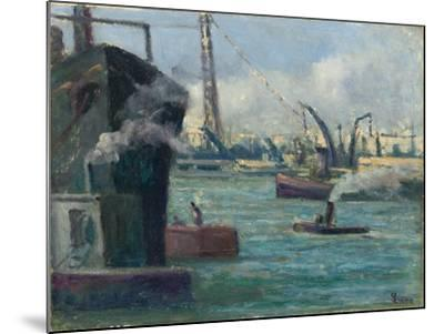Rouen Port-Maximilien Luce-Mounted Giclee Print