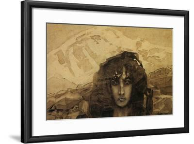 Head of a Demon, 1890-Mikhail Aleksandrovich Vrubel-Framed Giclee Print