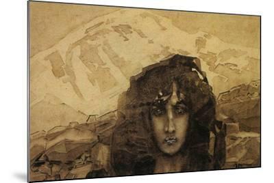 Head of a Demon, 1890-Mikhail Aleksandrovich Vrubel-Mounted Giclee Print