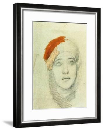 Study for the Virgin, 1884-Mikhail Aleksandrovich Vrubel-Framed Giclee Print