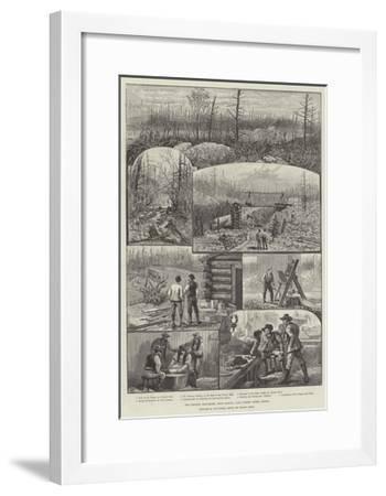 The Denison Gold-Mines, Near Algoma, Lake Huron, Upper Canada-Melton Prior-Framed Giclee Print