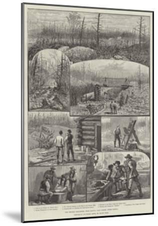 The Denison Gold-Mines, Near Algoma, Lake Huron, Upper Canada-Melton Prior-Mounted Giclee Print