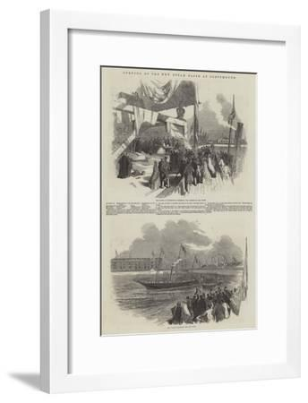 Opening of the New Steam Basin at Portsmouth-Myles Birket Foster-Framed Giclee Print