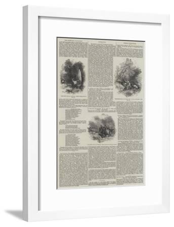 The White Doe of Rylstone-Myles Birket Foster-Framed Giclee Print