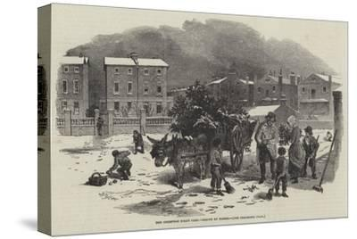 The Christmas Holly Cart-Myles Birket Foster-Stretched Canvas Print