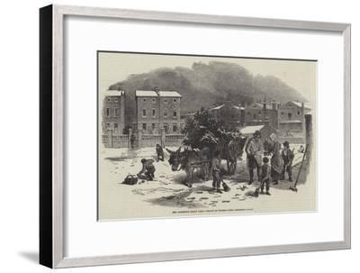 The Christmas Holly Cart-Myles Birket Foster-Framed Giclee Print