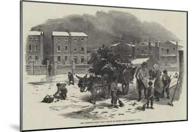 The Christmas Holly Cart-Myles Birket Foster-Mounted Giclee Print