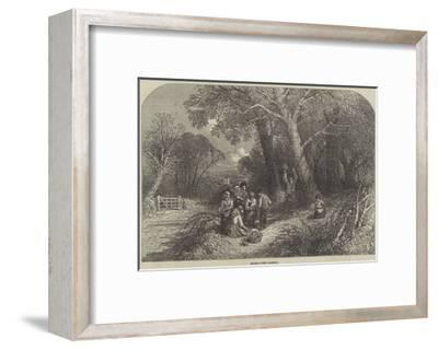 Spring, the Country-Myles Birket Foster-Framed Giclee Print